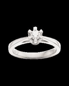 Prinsesse Ring 0,20 ct. i 14 Karat Hvidguld fra Scrouples