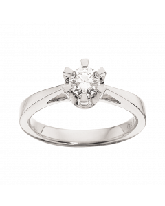 Prinsesse Ring 0,40 ct. i 14 Karat Hvidguld fra Scrouples