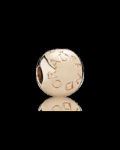 Klemmeled Rosaforgyldt Sølv Charm fra Pandora 781015