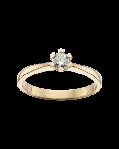 Scrouples Vida Ring i 14 Karat Guld med Diamant 0,20 Carat H-W/P1