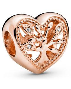 Family Tree Rosaforgyldt Sølv Charm fra Pandora 788826C01