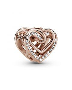 Pandora Heart Rosaforgyldt Sølv Charm 789270C01