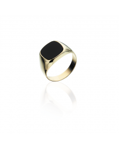 Scrouples Ring i 8 Karat Guld med Onyx 790533