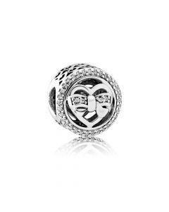 Love Ties Sterling Sølv Charm fra Pandora 792146CZ
