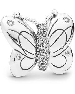 Pandora Mega Sommerfugl Clip Sterling Sølv Charm