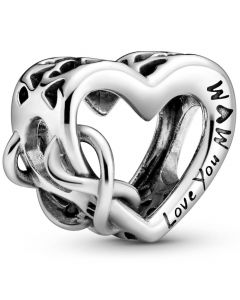 Heart And Infinity Sterling Sølv Charm fra Pandora