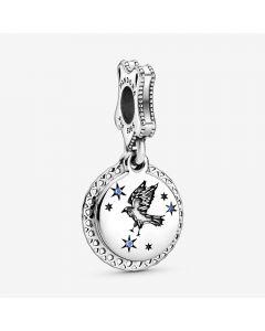 Harry Potter Ravenclaw Sterling Sølv Charm fra Pandora med Blå Krystal