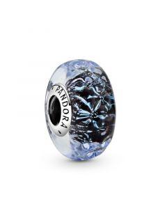 Pandora Wavy Sterling Sølv Charm med Glas 798938C00