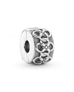 Pandora Flower Charm Klemmeled Sterling Sølv Charm