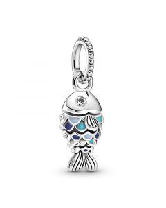 Fish Hængeled Sterling Sølv Vedhæng fra Pandora med Emalje