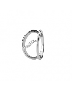 Collect Topaz Wave Sterling Sølv Ring fra Christina Watches med Ægte Topaser