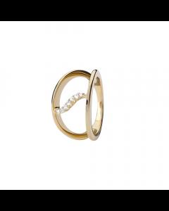 Collect Topaz Wave Forgyldt Sølv Ring fra Christina Watches med Ægte Topaser