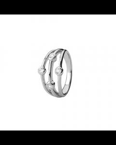 Collect Thrown Sterling Sølv Ring fra Christina Watches med Ægte Topaser