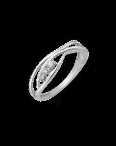 Støvring Design 14 Karat Hvidguld Ring 82245005