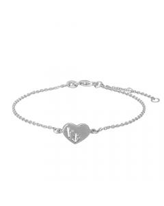 Hjerte Rhodineret Sølv Armbånd fra Nordahl Andersen