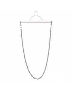 Scrouples Kæde Rhodineret Sølv Slipseholder 840112