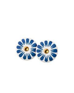 Scherning Bloom Ultramarine Forgyldt Sølv Ørestikker