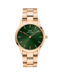 Daniel Wellington ADW00100419 - Lækkert dameur 36 MM Iconic Emerald Rose