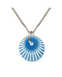 Splash Teardrop Cloud Blue Sterling Sølv Halskæde fra Scherning med Porcelæn
