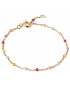 Lola Rainbow Forgyldt Sølv Armbånd fra Enamel med Farvede Sten