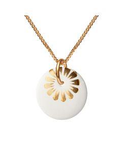 Bloom Gold Forgyldt Sølv Halskæde fra Scherning