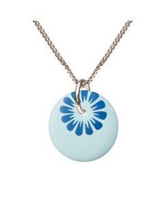 Bloom Cloud Blue Sterling Sølv Halskæde fra Scherning med Porcelæn