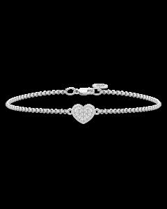 Julie Sandlau Pure Heart Armbånd i Sterling Sølv