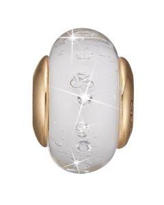 Christina Watches White Topaz Globe Forgyldt Sølv Charm