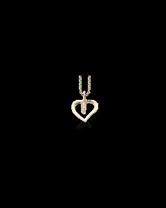 Hjerte 14 Karat Guld Vedhæng fra Scrouples med Brillanter 0,04 Carat W/SI