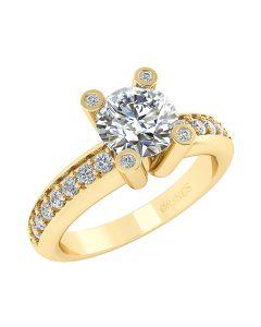 14 Karat Guld Ring fra Smykkekæden med Diamanter 1,3 Carat W/SI