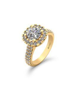 Henrik Ørsnes Design 14 Karat Guld Ring med Diamanter 1,28 Carat TW/SI