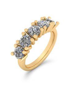 Henrik Ørsnes Design 14 Karat Guld Ring med Brillanter 1,50 Carat W/VVS