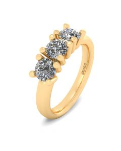 Henrik Ørsnes Design Ring i 14 Karat Guld med Brillanter 1,05 Carat W/VVS