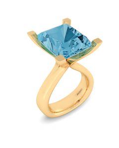 14 Karat Guld Ring fra Henrik Ørsnes Design med Topas
