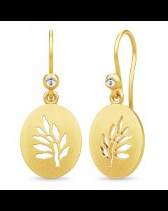 Julie Sandlau Tree Of Life Signet Earrings Forgyldt Sølv Øreringe