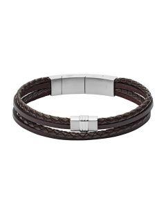 Fossil Vintage Casual Læder Herrearmbånd JF02934040
