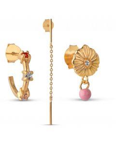 Box 2 Flamingo Forgyldt Sølv Smykkesæt fra Enamel