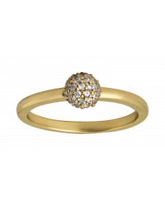 Sparkle Forgyldt Sølv Ring fra byBiehl 5-504A-GP