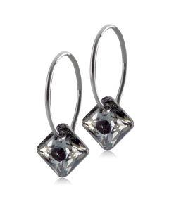 Blomdahl Nt Square Titanium Ørestikker med Sort Krystal