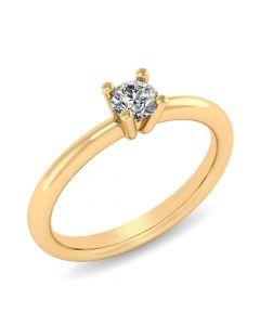 Fiona 14 Karat Guld Ring fra Henrik Ørsnes Design med Brillant 0,35 Carat W/VVS