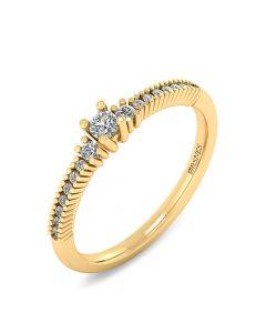 Smykkekæden 14 Karat Guld Ring med Diamanter 0,272 Carat W/SI