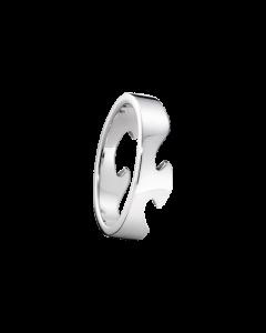 Fusion Ende 18 Karat Hvidguld Ring fra Georg Jensen