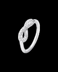 Infinity Sterling Sølv Ring fra Georg Jensen med Brillanter 0,25 Carat TW/VS