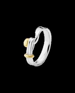Torun Sterling Sølv Ring fra Georg Jensen med 18 Karat Rødguld