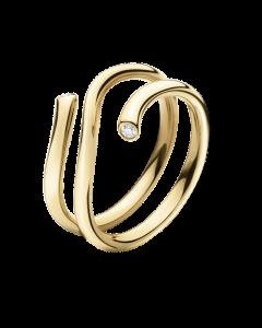 Georg Jensen Magic 18 Karat Guld Ring med Brillanter 0,04 Carat TW/VS