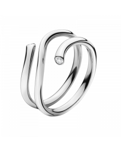 Magic 18 Karat Hvidguld Ring fra Georg Jensen med Brillanter 0,04 Carat TW/VS