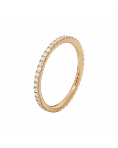 Georg Jensen Aurora 18 Karat Rosaguld Ring med Diamanter 0,25 - 0,26 Carat TW/VS