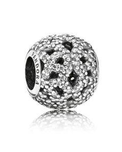 Pandora sølv charm m. sten 791284CZ