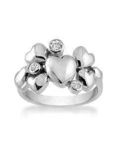Rabinovich Heart Alliance Ring i Sterling Sølv 63016370