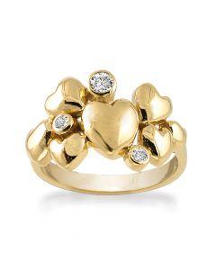 Heart Alliance Forgyldt Sølv Ring fra Rabinovich